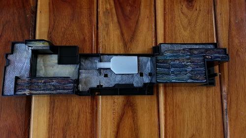 EPSON EP-803A プリンターのインク詰まり その4 廃インクカウンターのリセット 電化製品