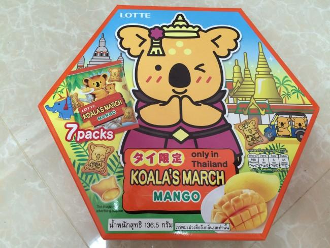 タイ限定 コアラのマーチ マンゴー味を買ってみた タイの食べ物