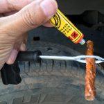 車のパンクを修理してみた