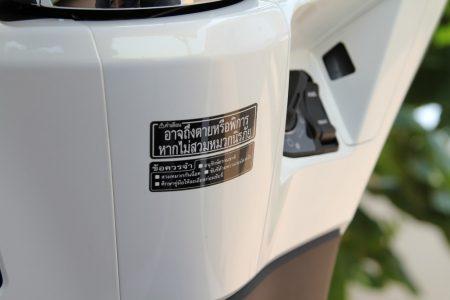 HONDA PCX タイ仕様のタイ語の注意書き