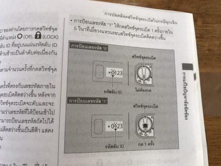 HONDA PCX タイ仕様の取説