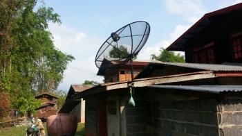 タイの田舎のテレビ タイの生活・風習