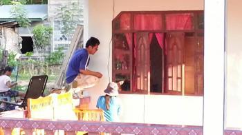タイの田舎の村でインターネット タイの生活・風習