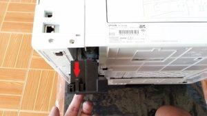 やさしく画像で説明 EPSON EP-803A プリンター 廃インク吸収パッドの掃除の仕方